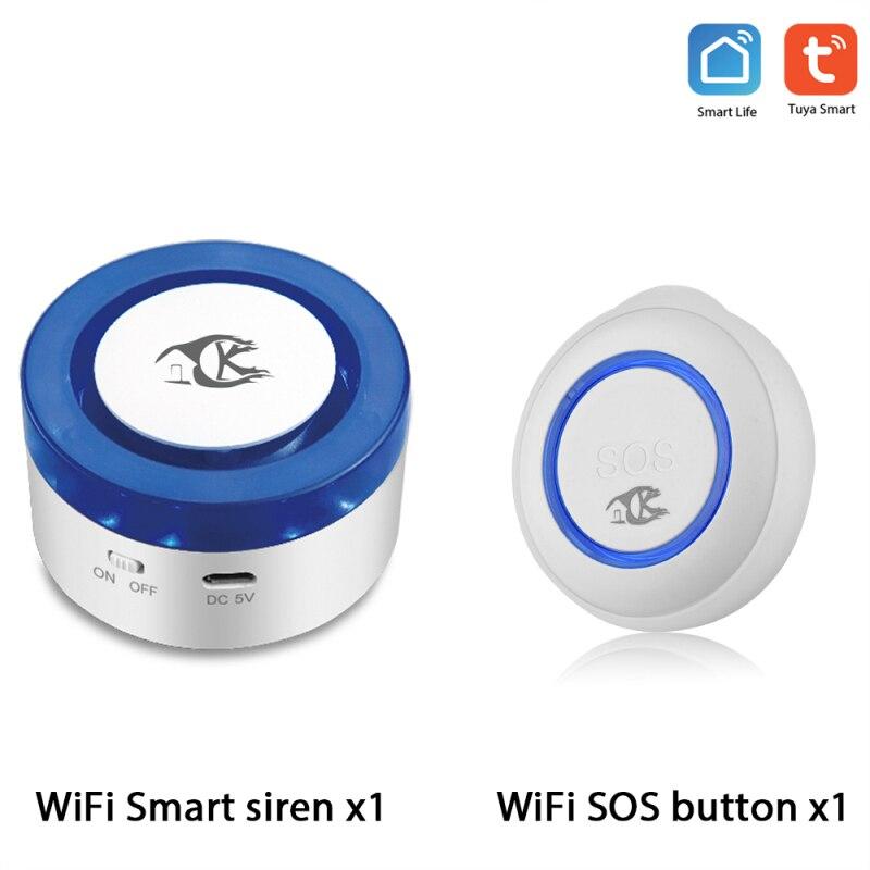 NEW TUYA smart SOS Button Smart siren Wireless Sensor Alarm Elderly alarm Waterproof Emergency Help Alarm Switch Work with WIFI