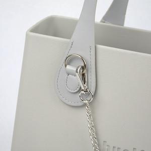 Image 5 - New 51cm 86cm Slim Handles Edge Painting D Buckle Teardrop End Faux Leather Handles for OBag Chain Pendant for EVA O Bag Body