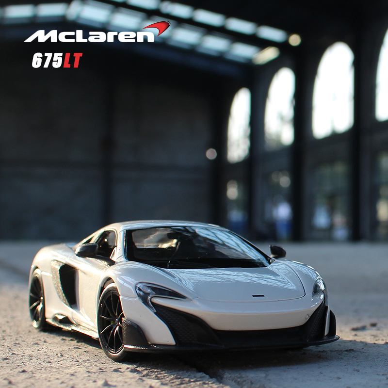 WELLY 1:24 MCLAREN 675LT Alloy Car Model Crafts Decoration Collection Toy Tools Gift