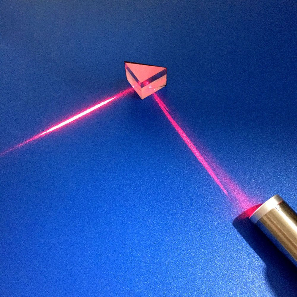 Customized 15 Isosceles Right Angle Total Reflection Laser Detection Mitsubishi Mirror For Optical Glass Triangular Prism