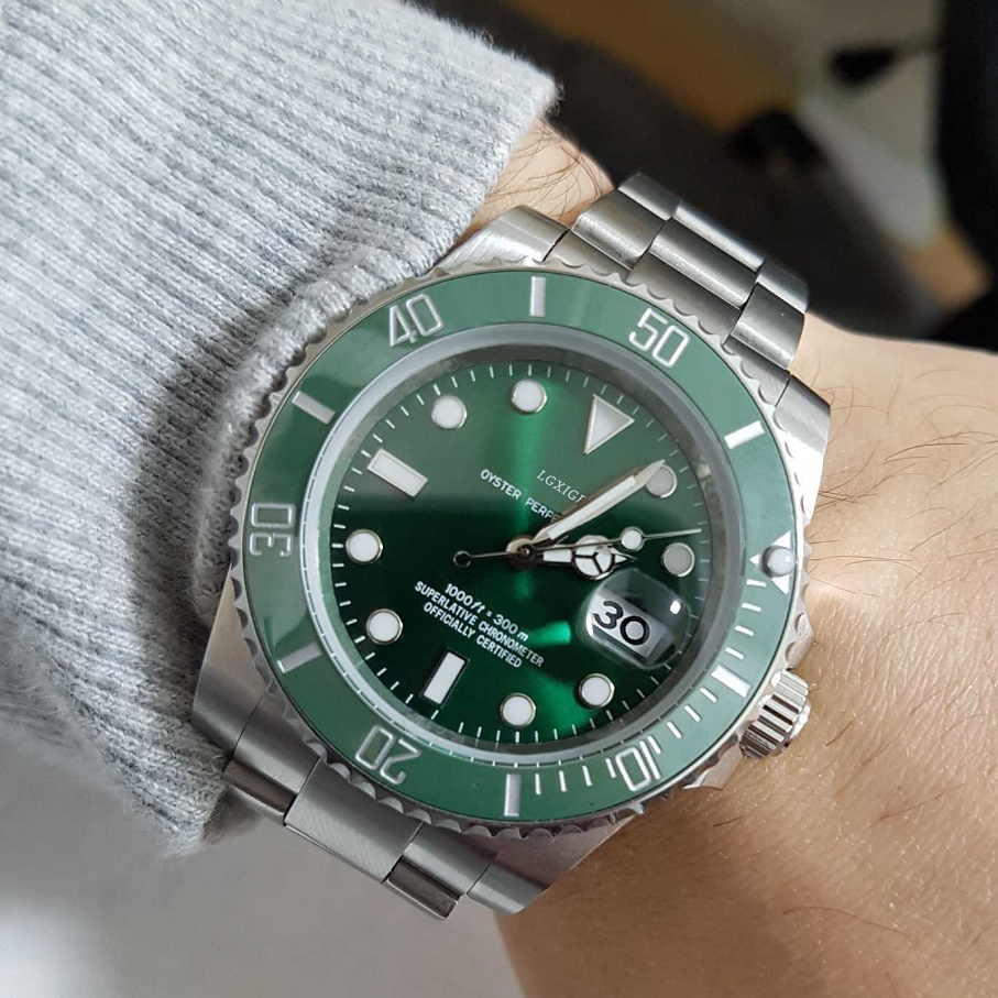 LGXIGE Brand Business Men Watch Top Luxury Diver Sports Watches Men Stainless Steel Shock Quartz Wristwatch 50m Waterproof Watch