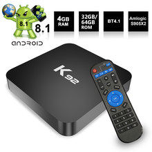 K92 2,4G/5G WiFi TV caja Android 8,1 S905X2 64 Bit 4K UHD VP9 H.265 4GB DDR4 32 GB/64 GB EMMC Android tv Box(China)