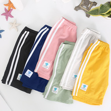 Boys Shorts Pants Outwear Clothing Girls Sport-Style High-Waist Kids Cotton Casual Summer