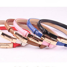 2020 Korean version of the wild patent leather women's adjustable buckle belt ca