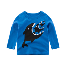 Boys Girls Cartoon Cotton T Shirts Children Tees Long Sleeve Kids Tops Baby Clothes Print Spring Toddler Autumn Clothing