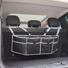 Car Trunk Organizer Hanging Bag Box Backseat Storage Bag Net High Capacity Multi-use Pocket Auto SUV Hatchback Trunk Organizer