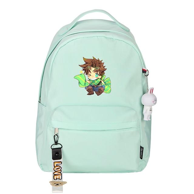 JoJo's Bizarre Adventure Women Backpack Small Travel Bagpack Joseph Joestar Dio Bookbag Cartoon School Bags Girls Shoulder Bags 5