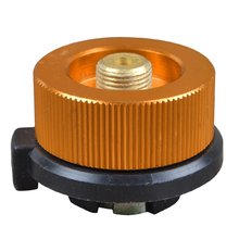 Outdoor Camping Hiking Picnic Gas Tank Adapter Stoves Connector Conversion Split Type Gas Furnace Connector Cartridge Accessory outdoor furnace head converter split gas connector long tank propane refill adapter butane switch tool