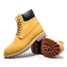 цена на winter boots Unisex  YT Shoes Vintage Leather Ankle Boots for Both Men and Women Fashion Short Boot Casual Flat Shoes