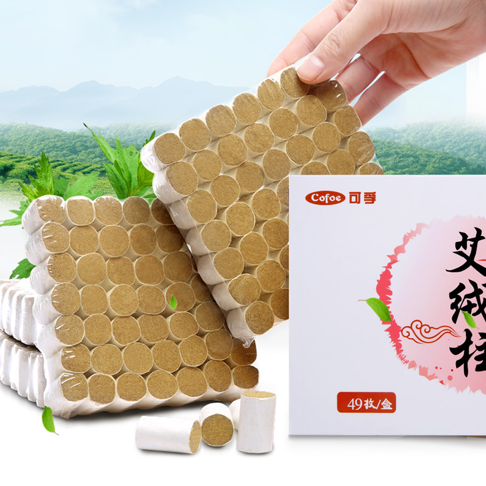 Cofoe 54pcs Moxibustion Moxa Stick Therapy Smokeless Chinese Composition Moxa Stick Roll 3 Years Old Traditional Moxas Tool