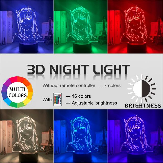 16 COLOR WITH REMOTE ZERO TWO 3D LED LAMP (11 VARIAN)