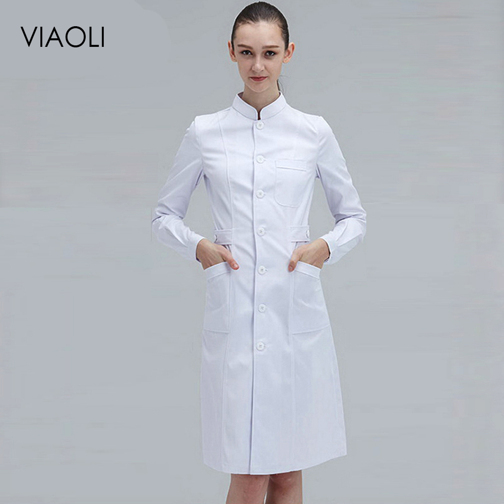 New Models Stylish And Elegant Hospital Nurse Uniform Summer Short-sleeve Medical Clothing Beautician Pharmacy White Lab Coat