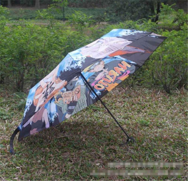 Anime Renkli Baskılı Şemsiye Naruto Uzumaki Sakura Kakashi Sasuke Hitachi Gaara Şemsiye Cadılar Bayramı Cosplay Şemsiye Hediye