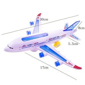 Image 2 - DIY הרכבה איירבוס מטוסי טייס אוטומטי פלאש קול מטוסים מוסיקה תאורה צעצועים חשמלי מטוס DIY צעצוע לילדים ילדים Gif