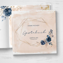 Watercolor floral Wedding Guestbook custom geometric Guest Book ideas book guest sign in book hen do photo book wedding keepsake