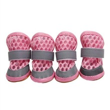 Pet Dog Breathable Shoes Booties Portable Anti Slip  4 Pcs/lot