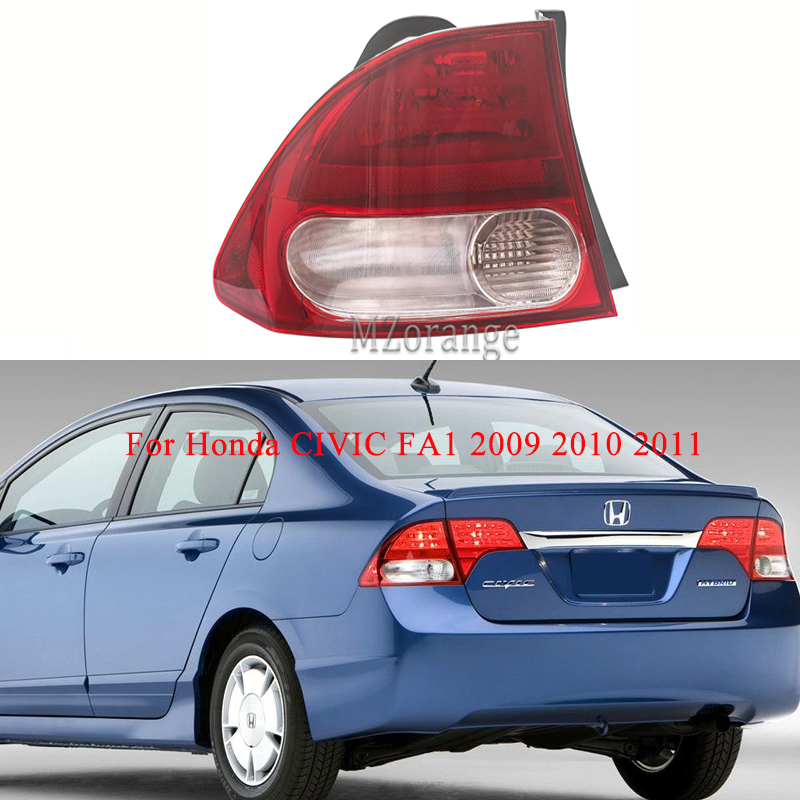 MIZIAUTO 1PCS Rear Tail Light outer side for Honda CIVIC FA1 2009 2010 2011 Rear Bumper Light Brake Light Tail Stop Lamp