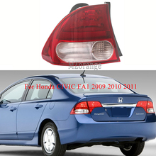 MIZIAUTO Rear Tail Light outer side for Honda CIVIC FA1 2009 2010 2011 Rear Bumper Light Brake Light Tail Stop Lamp