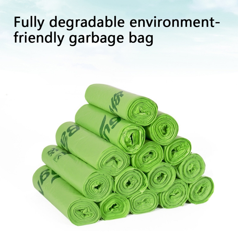 10PCS/Roll Thick Garbage Bags Flat Top Type Disposable Kitchen Waste Bag Rubbish Food Residue Cleaning Home Cleaning Appliances