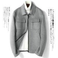 Short Wool Korean Spring Autumn Jacket Double sided Woolen Men Coat Overcoat Manteau Homme 2020 G 01 1805 KJ1025