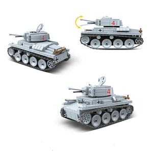 Image 3 - Nuevo Modelo de 535 Uds. De tanque de bloques de construcción militar WW2, militar, militar, soldado, armas, Juguetes