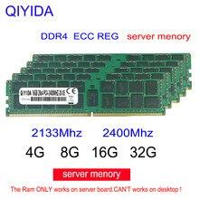 Ddr4 carneiro 8gb 4GB GB PC4 16 2133MHz ou 2400MHz 2600MHZ 2400T ou 2133P Memória ECC REG Servidor 4G 16g 8g ddr4