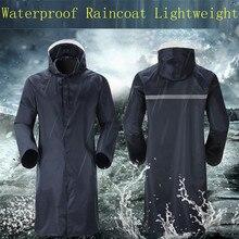 Fashion Men's Waterproof Raincoat Lightweight Casual Hooded