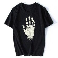 LA MANO DEL DESTINO LA MANO DEL DESTINO Occhio Orrore T-Shirt Classica Manica Corta Harajuku Streetwear Divertente Cotone Stampato Tshirt