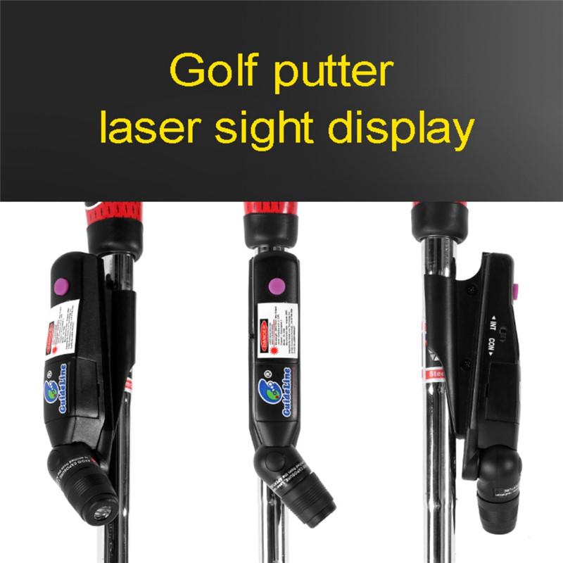Golf Putter Laser Sight Indoor Education Putter Target Putt Practice Battery Help Operated Corrector Trainer