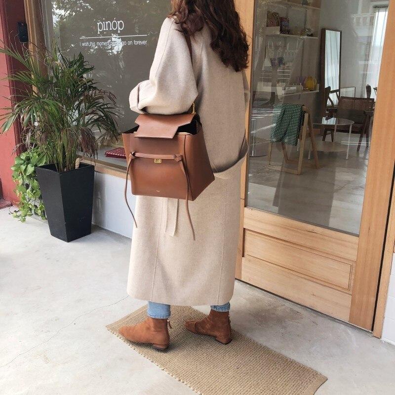 19 Winter Oversize Long Trench Coat Women Cashmere Coat Korean Lady Windbreaker Outwear Streetwear 75