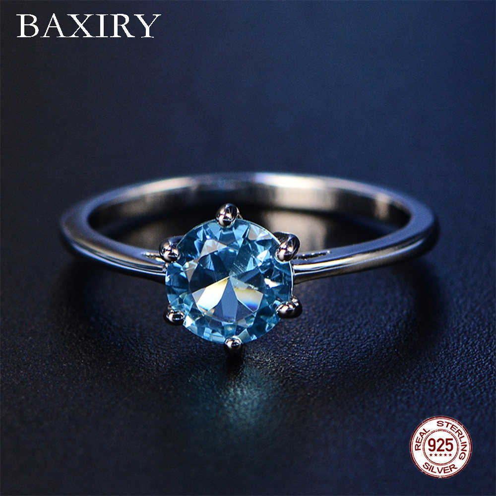 2019 New Phong Thủy Nhẫn Hợp Thời Trang Xanh Sapphire Nhẫn Bạc 925 Trang Sức Đá Quý Thạch Anh Tím Nhẫn Bạc Nhẫn Đính Hôn Cho Nữ