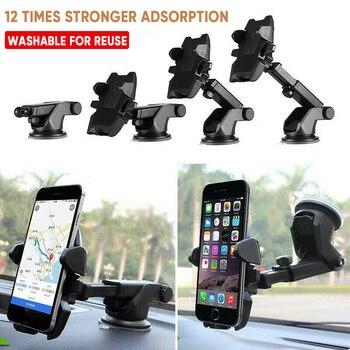 Soporte Universal de teléfono para coche con ventosa soporte de teléfono extensible soporte de Clip de montaje GPS para coche para iPhone 11 Pro Xiaomi Samsung HuaWei