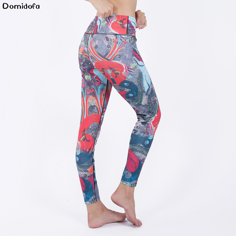 New digital print sports buttock sweat absorption yoga pant sfor women fitness running polyester legging in Yoga Pants from Sports Entertainment