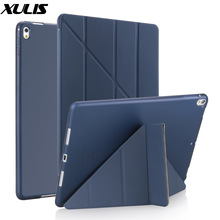 Case for ipad Pro 9.7 inch Leather Silicone Multi-fold Smart Cover For iPad Pro 9.7 Case 2016 A1673 A1674 A1675 Funda