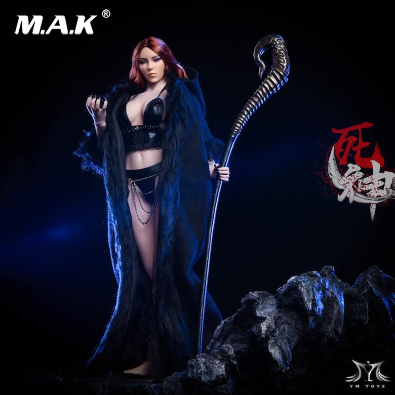 YMT012 1/6 escala un dios de la muerte chica cabeza ropa hoz conjunto accesorios modelo para 12 ''PHICEN sin costuras grande figura de acción del cuerpo