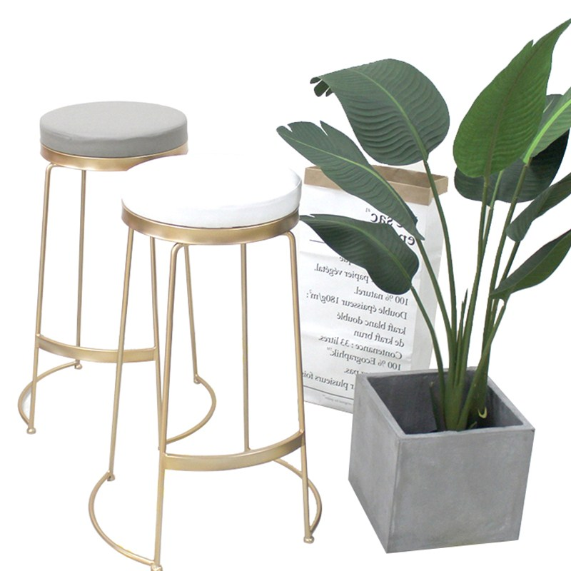 North Europe Ins Style Bar Stool Modern Simple Net Red Milk Tea Dessert Shop Coffee Shop Bar Front Desk High Chair