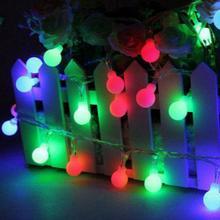 10M 100 LED Globe Balls Fairy String Light Lamp Christmas Party Decor 110V 220V Holiday lighting