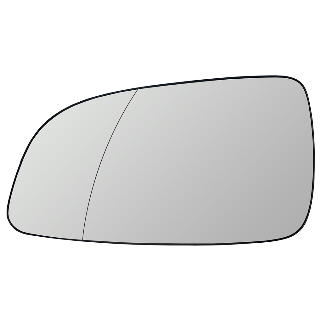 Side Mirror Glass Heated Convex Chrome LEFT Fits PEUGEOT 207 2006