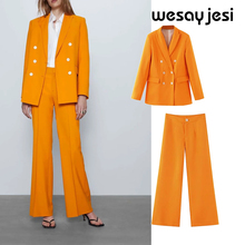 Summer women's suit sets england vintage style office lady s