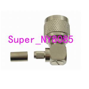Image 5 - 10pcs Connector N male Plug crimp RG58 RG142 LMR195 RG400 cable right angle