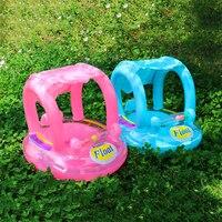 Baby Aufblasbare Schwimmen Ring Kinder Sommer Schwimmen Pool Schwimmen Sitz Float Kinder Sicherheit Wasser Float Mit Sonnenschirm Wasser Spaß Spielzeug
