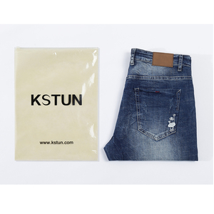 Image 5 - KSTUN Jeans Männer Stretch Sommer Blau Business Casual Dünne Gerade Jeans Mode Jeans Männliche Hose Regular Fit Große Größe