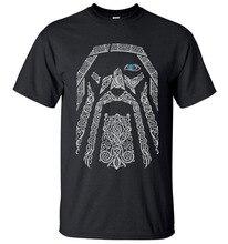 Summer Black T Shirt Odin Vikings TShirt Men Shirt