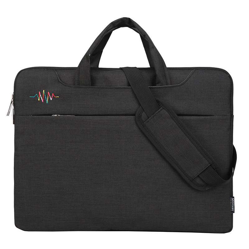 Durable Book A4 Document Bag Multi-functional Men's Briefcases Laptop Notebook Pens Computer Pouch Folder Office School Supplies