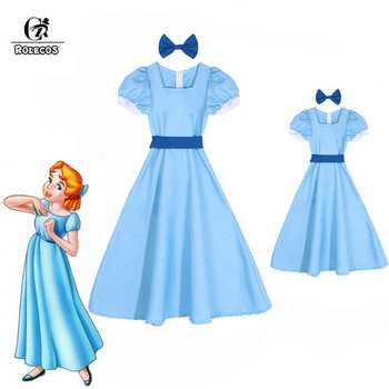 ROLECOS Wendy Darling Dress Peter Pan Cosplay Costumes Girl Blue Dress Women Long Costume Halloween Party Rachel Cosplay - DISCOUNT ITEM  48 OFF Novelty & Special Use