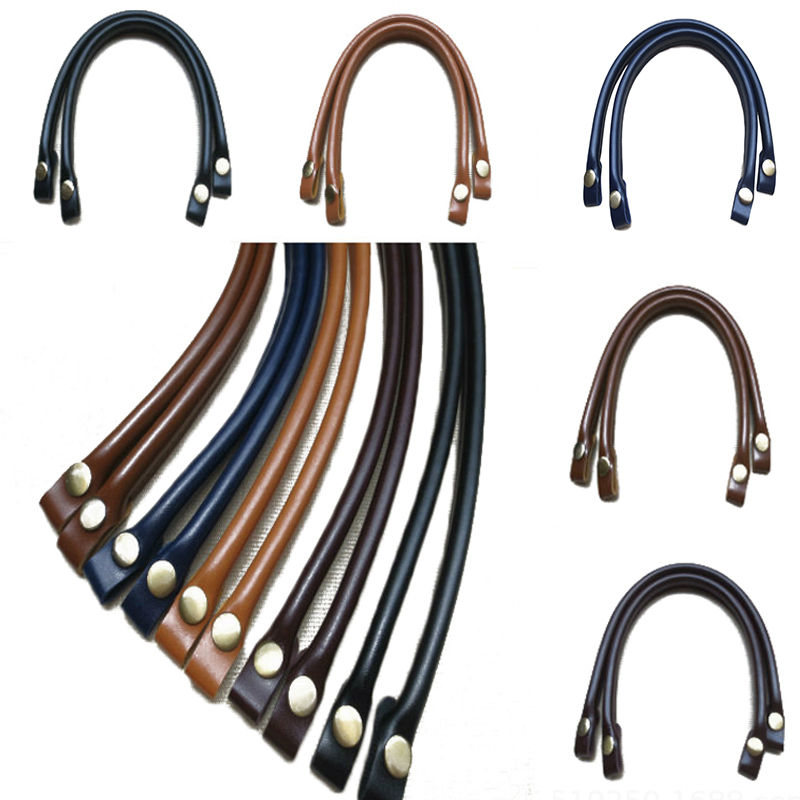 1PC Detachable Obag Handles PU Leather Bag Handles DIY Replacement Accessories For Bags Lady Shoulder Bag Handbag Strap Bag Belt