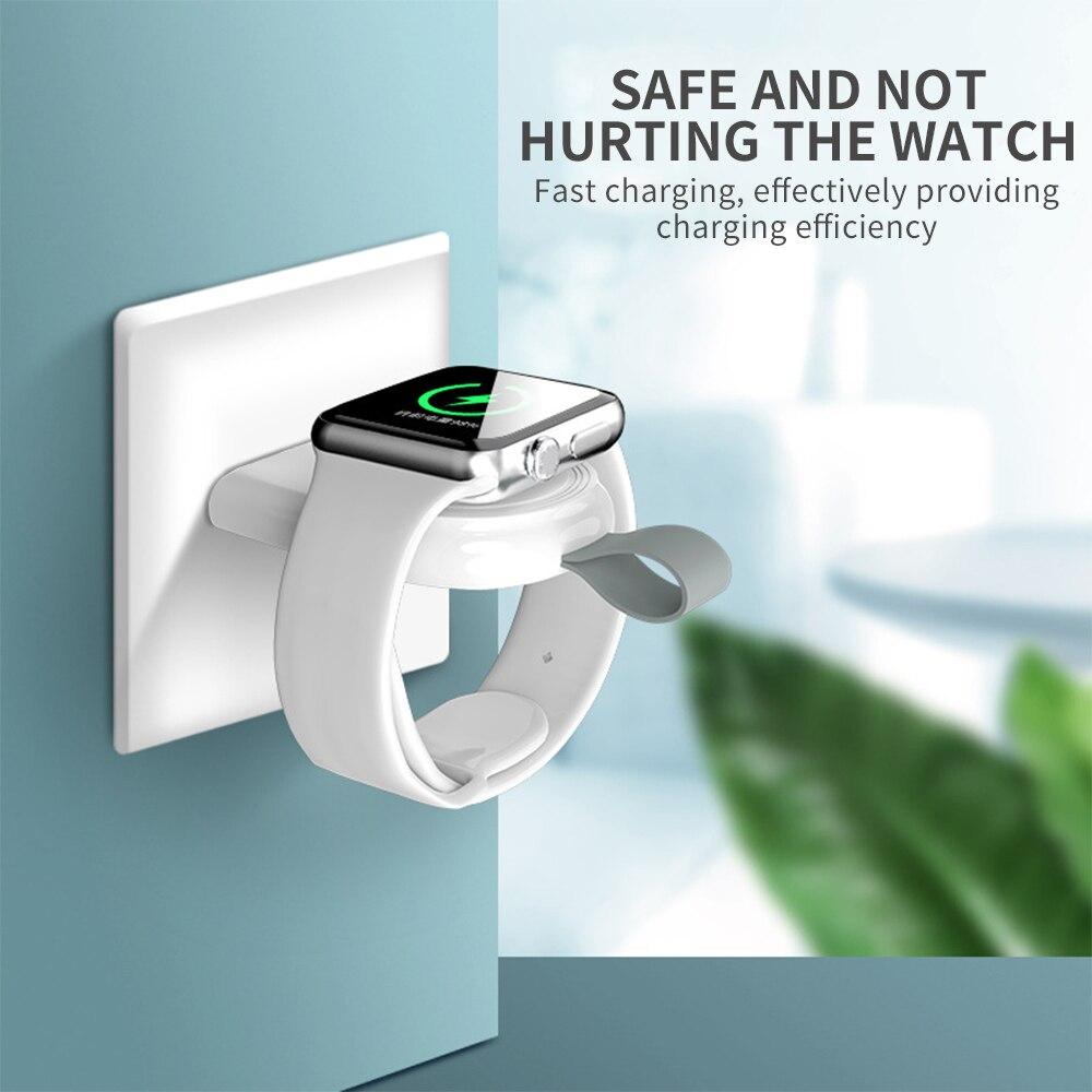 Мини портативное беспроводное зарядное устройство для Apple iWatch 1 2 3 4 5 док-адаптер быстрое зарядное устройство смарт-часы Беспроводная Зарядн...