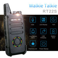 מכשיר הקשר 2pcs RETEVIS RT22S FRS מכסים נגד אבק 2W שני הדרך רדיו נייד תחנת אולטרה-דק VOX USB מכשיר הקשר לחייב הצגת חשמל (2)