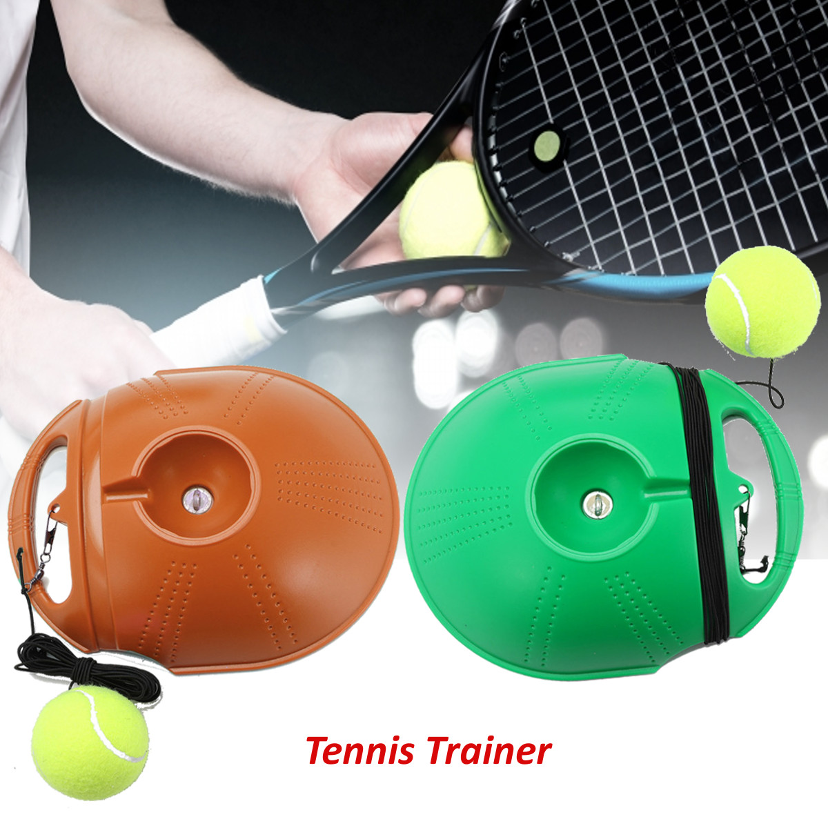 Tennis Trainer and Self-study Tennis Training Tool with Rebound Balls and Baseboard 7