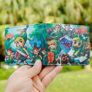 Anime Game Link Coin PU Leather Wallet Purse Bag Holder Layer Cool Hot